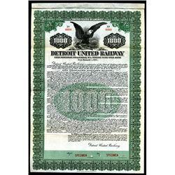 Detroit United Railway Company - 1st Consolidated Mortgage 4 1/2% 30 Year Gold Bond Specimen