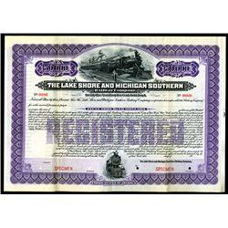 Lake Shore & Michigan Southern Railway Co. 1903 Specimen Bond.