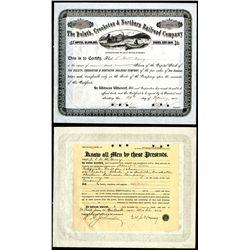 Duluth, Crookston & Northern Railroad Co., 1896, 1 I/C Stock.
