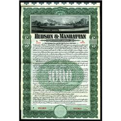 Hudson & Manhattan Railroad Co., 1907 Specimen 4 1/2% Gold Coupon Bond.