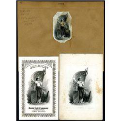 "Union Pacific Railroad Vignettes - ""Atlantic & Pacific United"" ND (ca.1860-70) Proof Vignette & Adve"