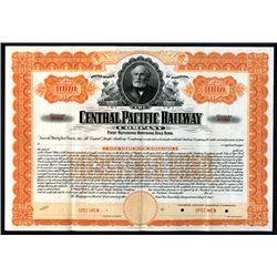 Central Pacific Railway Co. 1899, Specimen $1000, Registered 4% Gold Bond.