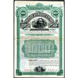 Chicago, Milwaukee & St. Paul Railway Co. - Chicago, Evanston and Lake Superior Division, 1888, $100