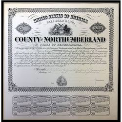 County of North Umberland, ca. 1870's Proof Bond.