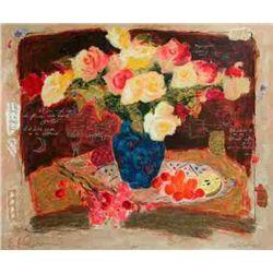 Alexander Wissotsky, Spring Flowers III, Signed Serigraph
