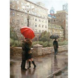Daniel Del Orfano,  First Kiss,  Signed Canvas Print