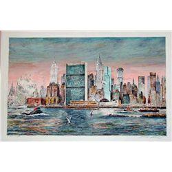Kamil Kubik,  East River, NY,  Signed Print