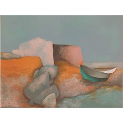 Claude Gaveau, Solitude, Signed Lithograph