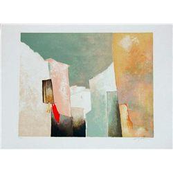 Claude Gaveau, Open Window, Signed Lithograph
