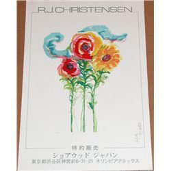 Signed RJ Christensen Poster