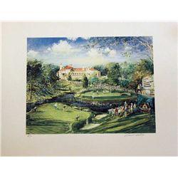 Kamil Kubik,The Congressional Golf, Signed Serigraph