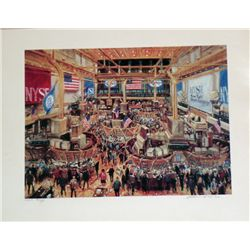Kamil Kubik, Floor of the NYSE Signed SS-Rare!