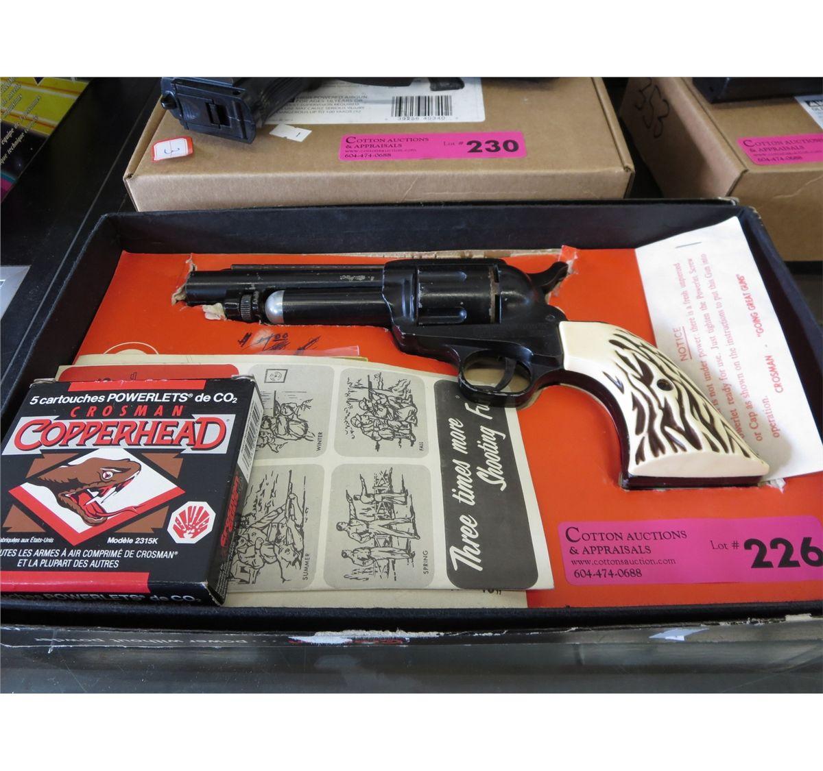 Vintage Crosman SA6 CO2 Pell gun revolver