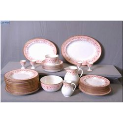 Selection of Wedgwood dishware including side plates, egg cups, dinner plates etc.
