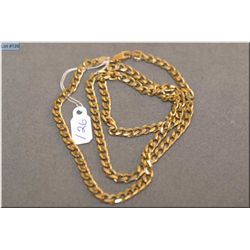 """Gent's 10kt yellow gold curb chain, 22"""" in length"""