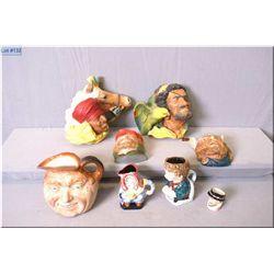 """A selection of collectibles including Royal Doulton """"John Barleycorn"""" character jug, small Royal Dou"""