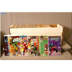 """A large selection of vintage comic books including 1986 """"The Punisher"""" Nos. 1-5 in five issue series"""