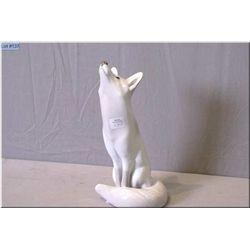 "A Royal Copenhagen porcelain fox 11"" in height"