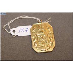 WWI Sir John C. Eaton 14kt yellow gold service medal