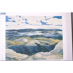 "Unframed limited edition Group of Seven print ""Bay of Islands"" by Franklin Carmichael 247/777"