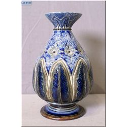 "Antique Doulton Lambeth vase designed by Frank Bauer 1883, 8"" in height"