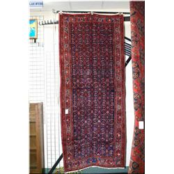 "Iranian wool area rug with overall geometric floral design and multiple borders 45"" X 99"""