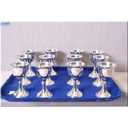 "Twelve Birks sterling aperitif goblets 4 1/2"" in height"
