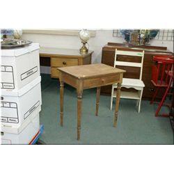 Antique primitive single drawer desk