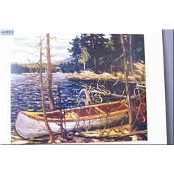"""Unframed limited edition Group of Seven print """"The Canoe"""" by Tom Thomson 282/777"""