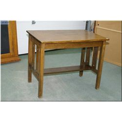 Mission style quarter cut oak library table