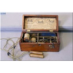 """Antique """"Patent Magneto Electric Machine for Nervous Diseases"""" in wooden case"""