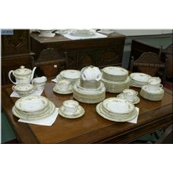 """A large set of Noritake """"Rosario"""" china including dinner plates, luncheon, side and bread and butter"""