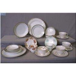A selection of china including Noritake dining pieces, Royal Doulton and Royal Albert tea cups and s