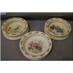 Three Bunnykins children's bowls