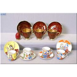 A selection of collectibles including Carltonware Rouge Royale tea cups and a selection of Geisha de