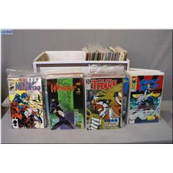 """A large selection of vintage comic books including Marvel """"What The...?!"""", World's Finest, The Wolve"""