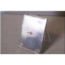 Vintage sterling silver cigarette case with RAF insignia and British hallmarks
