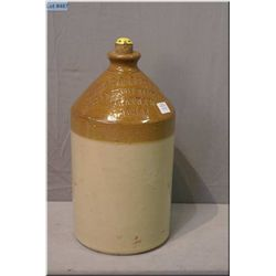 """Doulton Lambeth stoneware jug for the """"Owen J. Carter Wine and Spirit Merchants"""" 14"""" in height"""