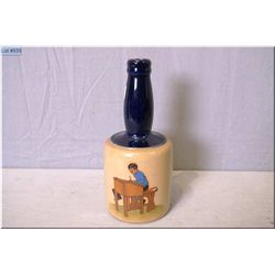 """Royal Doulton stoneware bottle with picture of a school boy at his desk 9"""" in height"""
