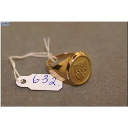 Birks 14kt yellow gold gent's ring