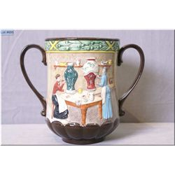 "Royal Doulton double handled cup ""Pottery in the Past"" D6696"