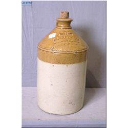 "Antique Doulton Lambeth stoneware jug ""Shaxby Bros. Wine and Spirit Merchants"" 13"" in height"