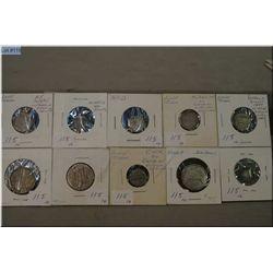 Ten Victorian coin silver Love Tokens