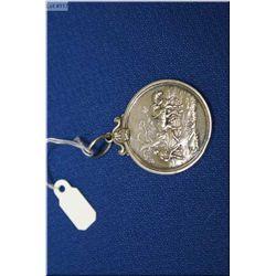 Antique Scottish Highlands Agricultural medallion in bezel dated 1864