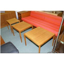 A set of three teak occasional tables