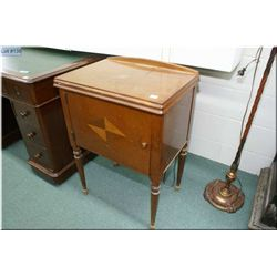 Walnut cased Singer electric sewing machine