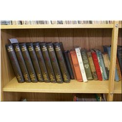 A selection of vintage hardcover and collectible books