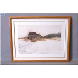 """Framed limited edition Intaglio print titled """"Arthur Dodge's House"""" 69/100 pencil signed by artist D"""