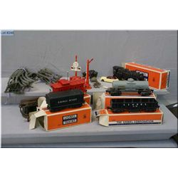 Selection of vintage Lionel trains including a 1110 Steam engine, rolling stock, power supply, assor