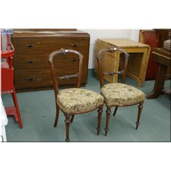 Pair of antique side chairs